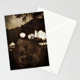 Steampunk Guinea Pig Stationery Cards