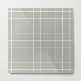 Gray Grey Grid Metal Print