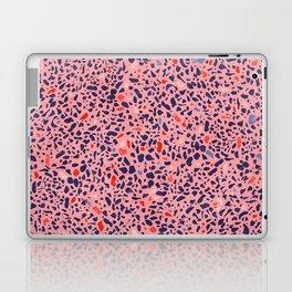 Terrazzo pink red blue Laptop & iPad Skin
