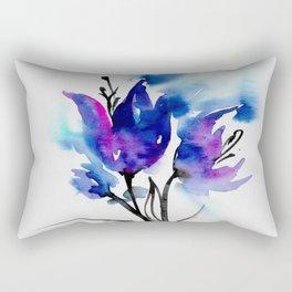 Blue Blooms by Kathy Morton Stanion Rectangular Pillow