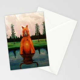 unbearabull market Stationery Cards
