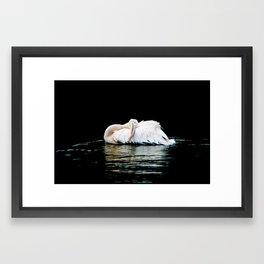 Feather Pillow Framed Art Print