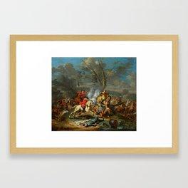 Karel Breydel, gen. Le Chevalier (1677 Antwerpen – 1744 Gent) Calvary Skirmish II Framed Art Print