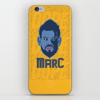 marc jacobs iPhone & iPod Skins featuring Marc Gasol by Ric_Hardwood