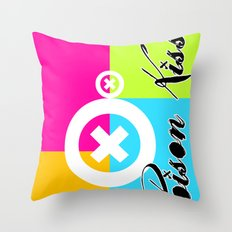 POISON KISS - COLORS EDITION Throw Pillow