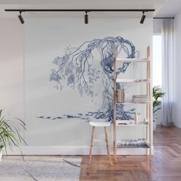 Hedgewitch, Blue Wall Mural