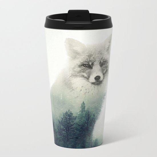 Fox, Forest Animal, Woodlands, Wilderness Metal Travel Mug