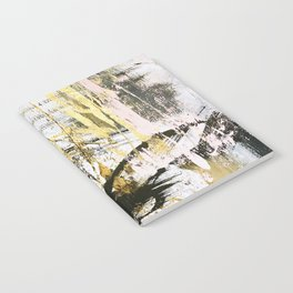 Armor [9]:a bright, interesting abstract piece in gold, pink, black and white Notebook