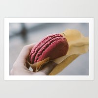 macaroon Art Prints featuring Macaroon by Twenty One Beds