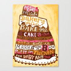Pat A Cake Canvas Print