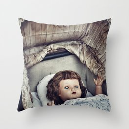Haunted she is Throw Pillow