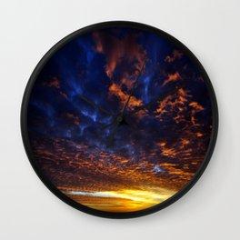 sky at sunrise Wall Clock