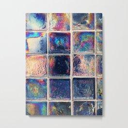 Iridescent Squares Metal Print
