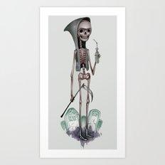 Grim Boyfriend Art Print