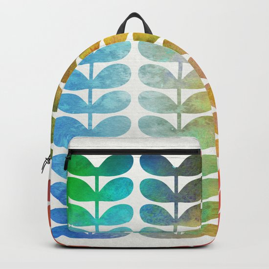 Colorful Leaves from Blue to Orange Backpack