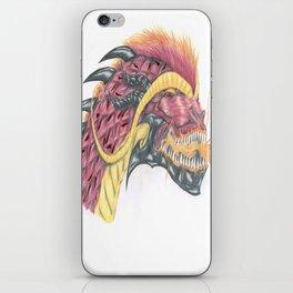 fiery dragon head iPhone Skin