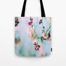 Cherry Blossoms pink Pastels Tote Bag