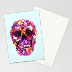 FLOWERS SKULL Stationery Cards