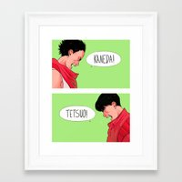 akira Framed Art Prints featuring Akira by Sara Kipin