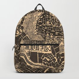 Vintage Map of Vienna Austria (1907) Backpack