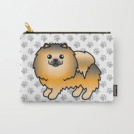 Orange Sable Pomeranian Dog Cute Cartoon Illustration Carry-All Pouch
