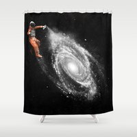 nasa Shower Curtains featuring Astronaut by Florent Bodart / Speakerine