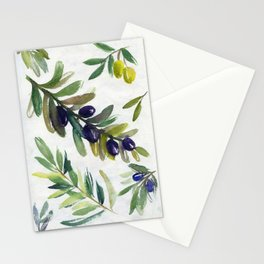 olive branches Stationery Cards