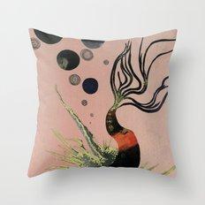 Koi Bubbles Throw Pillow