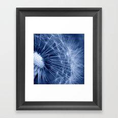 blue dandelion II Framed Art Print