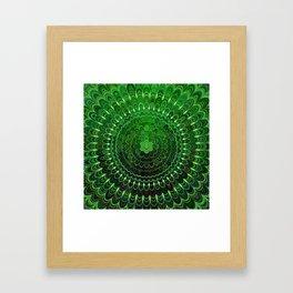 Green Flower Mandala Framed Art Print
