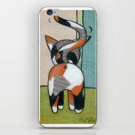 Calico Kitty Butt iPhone Skin