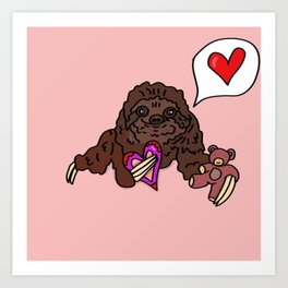 Romantic Sloth Art Print