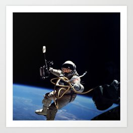 Astronaut : First American Spacewalk 1965 Art Print