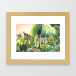 Painting By The Stream Framed Art Print