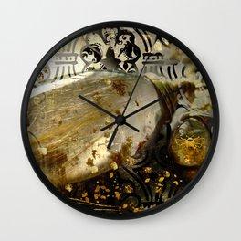 Rutilated Honey Wall Clock