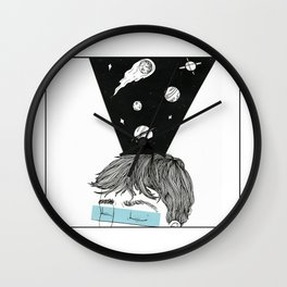 I see Galaxies Wall Clock