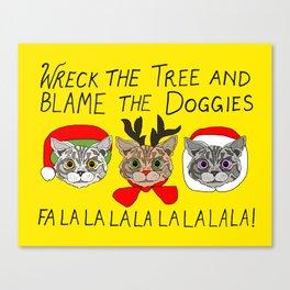 Holiday Cat Brats Canvas Print