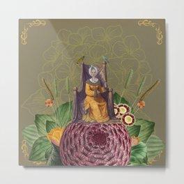Mrs. Flowerwoman Metal Print