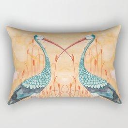 An Exotic Stork Rectangular Pillow