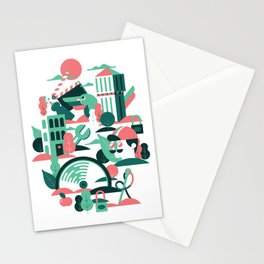 A sunny morning in Milan Stationery Cards