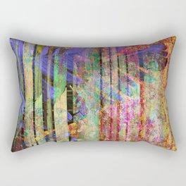 350 Abstract Iridescent Botanical Rectangular Pillow