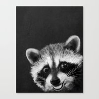 raccoon Canvas Prints featuring Raccoon  by Laura Graves