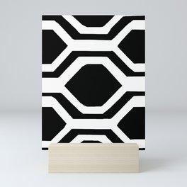 Black and White Geometric Mini Art Print