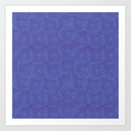 Swirly Squares Art Print