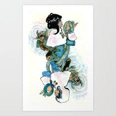 Skadi Queen of Spades Art Print