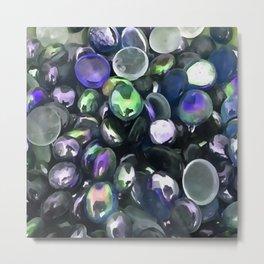 Decorative Glass Pebble Stones Painting Metal Print