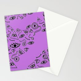 """The Eyes Have It"" in Violet Stationery Cards"