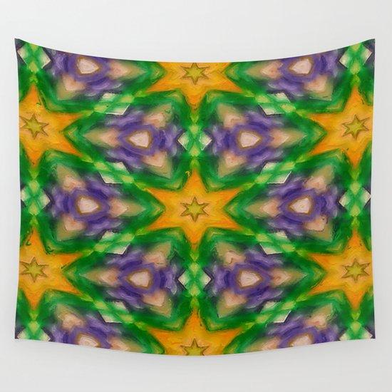 Mardi Gras stars #4509 Wall Tapestry