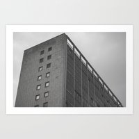 manchester Art Prints featuring manchester by Mylo Photography