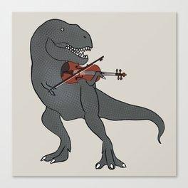 T-Rex Violin Canvas Print